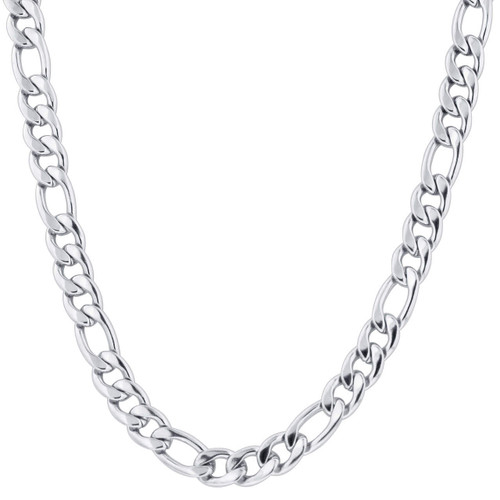 Stainless Steel 11.5mm Figaro Chain Necklace For Men