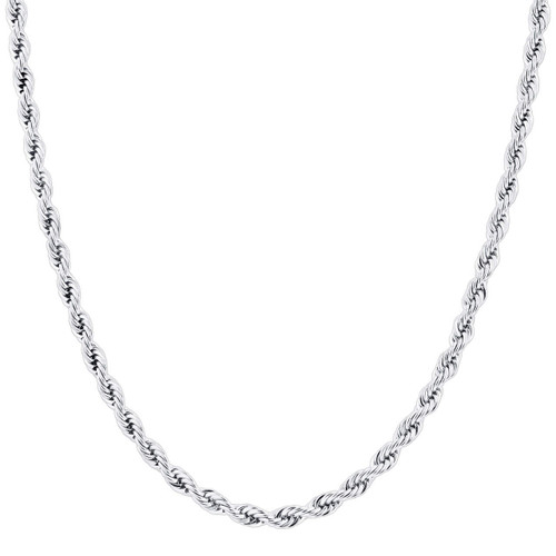 Stainless Steel 5mm Rope Chain Necklace For Men