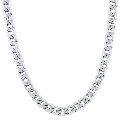 Stainless Steel 9.5mm Curb Chain Necklace