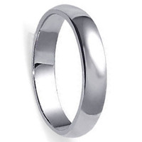 925 Sterling Silver Polished Finish 5.5mm Wedding Band #LWRS163
