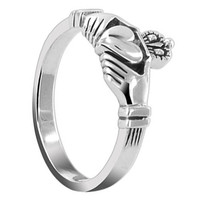 Sterling Silver 10mm Claddagh Friendship and Love Ring