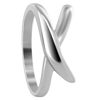 925 Plain Sterling Silver 9mm wide Overlapping Design 2mm Ring #MRRS002