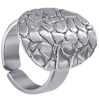 925 Sterling Silver Oval Texture Ring #PGRS015