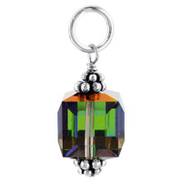 925 Sterling Silver Cube Vitrial Medium Crystal Pendant Made with Swarovski Elements