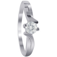 925 Sterling Silver Simple Cubic Zirconia Rings