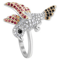 925 Sterling Silver Flying Bird Studded with 1mm Cubic Zirconia Ring