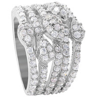 925 Sterling Silver Round Cubic Zirconia 5mm Ring