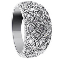 925 Sterling Silver Cubic Zirconia Ring #DSRS020