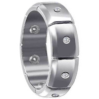 925 Sterling Silver Cubic Zirconia Wedding Band