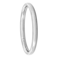 Stainless Steel Plain Comfort Fit 2mm Wedding Band