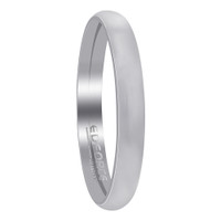 Stainless Steel Plain Comfort Fit 3mm Wedding Band