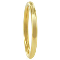 Stainless Steel Gold Plated 2mm Wedding Band