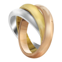 Stainless Steel Three Tone Triple 4mm Band #DSSSR013