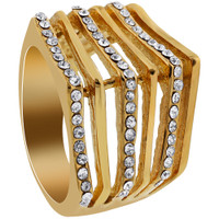 Stainless Steel Clear Cubic Zirconia Ring