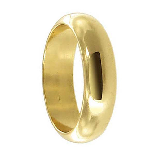 18k Gold Layered 5mm Wide Wedding Band