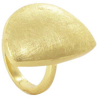 Gold Plated Designer Scratch Style Ring #LWR005