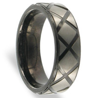 Mens Titanium Polished Finish Band