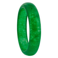 Mens Green Gemstone 5mm Wide Band