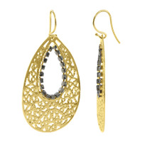 18 KT Gold Vermeil Blue Sapphir 2mm 18k Teardrop Earrings