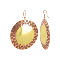"2.4"" Swirl Designer Fashion Dangle French Hook Brass Earrings"