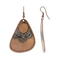 1.3 x 1.8 inch Designer Fashion Dangle Earrings with French Wire Findings