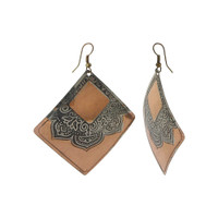 2.5 Square Designer Fashion Dangle Earrings with French Wire Findings