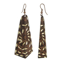 1 x 2.7 inch Designer Fashion Dangle Earrings with French Wire Findings