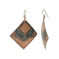 2 x 2 inch Square Designer Fashion Dangle Earrings