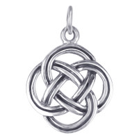 925 Plain Sterling Silver 19mm x 13mm Braided Design Celtic Charm Pendant #LWPS033