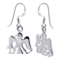Flying Eagle 925 Sterling Silver Polished Finish Drop Earrings