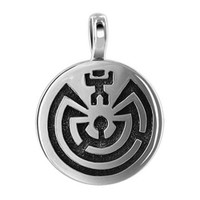 925 Sterling Silver Southwestern Style Oxidized Pendant #TBPS025
