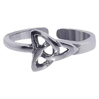 925 Sterling Silver Celtic Knot Toe Ring