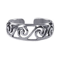 925 Sterling Silver Swirl Toerings