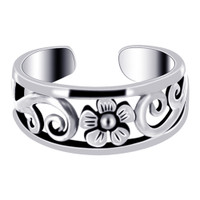 Sterling Silver Flower Toerings