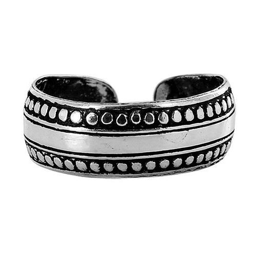 925 Sterling Silver Dotted Design Toerings