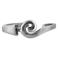 925 Plain Sterling Silver Curl Design Toerings #T013