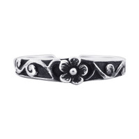 925 Sterling Silver Floral Design Toerings #LWTS048