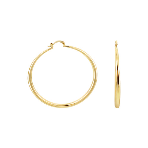 18k Gold Layered Hoop Earrings (57mm Diameter)