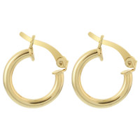 18k Gold Layered Hoop Earrings (14.5mm Diameter) #GE032