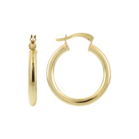 18k Gold Layered Hoop Earrings (24.75mm Diameter) #GE034
