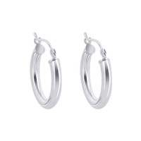 925 Sterling Silver 2.5mm wide Hoop Earrings (19mm Diameter)