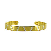 8mm wide Two Tone Cuff Bracelet