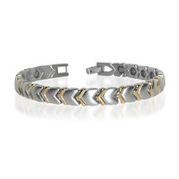 New Stainless Steel Hearts Magnetic Golf Bracelet 7.5 inch