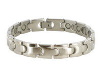 10mm Stainless Steel Mens Magnetic Bracelet 8.5 inch