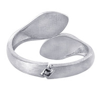 11mm wide Silver Plated Scratch Style Bangle Bracelet Size 2.6 #LWBR005