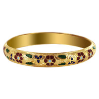 10mm wide Gold Tone Fashion Bangle Bracelet Size  #SBBF036