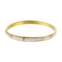 Gold Tone Bone Inlay Vintage Style Bangle Bracelet #SBBF042