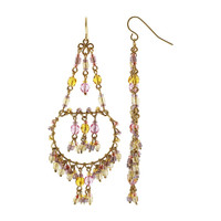 Handmade Chandelier Citrine Beads French Hook Earrings  #MPER083