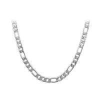 Stainless Steel 5.5mm wide Figaro Chain Necklace #ANNK007