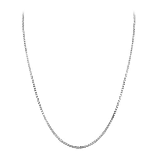 925 Sterling Silver 1.1mm Box Chain with Slider Charm Adjustable Necklace
